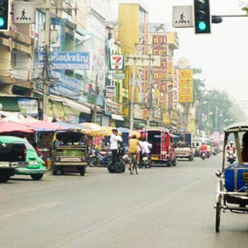 Straßenszene, Thailand Rischka